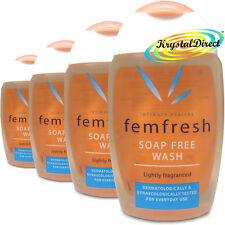 4x Femfresh Daily Intimate Hygiene Wash Soap Free 150ml Lightly Fragranced