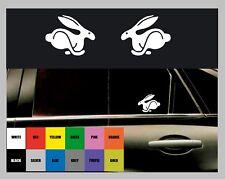 2 X Logo De Volkswagen Rabbit cuerpo/VW Vinilo Autoadhesivo Con Ventana-Elección del Color!