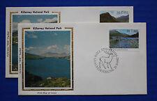 """Ireland (515-516) 1982 Killarney National Park Colorano """"Silk"""" FDCs"""