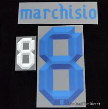 Italy Marchisio 8 euro 2012 Football Shirt Name/Number Set Away Kit