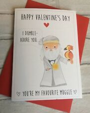 Personalised Harry Potter Valentines Day Card: Dumbledore (Cute Pun Funny Geeky)