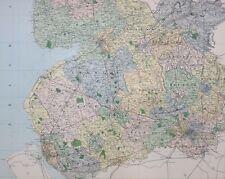 1889 COUNTY MAP LANCASHIRE SOUTH SHEET PRESTON CHORLEY BURY HEYWOOD BLACKBURN