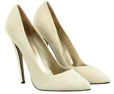MORI MADE IN ITALY SKY HIGHEST HEELS PUMPS SCHUHE SUEDE LEATHER BEIGE NUDE 43