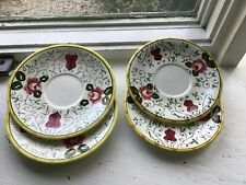 PY Ucagco Provincial Rooster and Roses Saucers 4