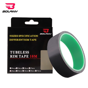 BOLANY Bicycle Tubeless Rim Tape 10 Meters 20/23/25/27/29/31/33/35/37mm Width
