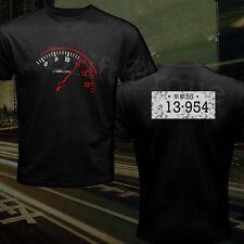 Takumi Fujiwara Tofu Shop AE86 Initial D Tachometer Sprinter Number T-Shirt