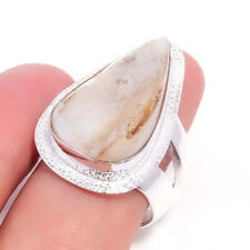 Mother Of Pearl Gemstone 925 Sterling Silver Handmade Ring Jewelry 7 4415