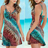 Boho Hippie Women's Summer Beach Casual Party Holiday Short Mini Dress Sundress