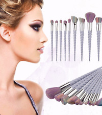 10pcs Makeup Brushes Professional UNICORN Soft Set Eyeshadow Powder kit Eyebrow