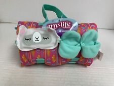 My Life As Sleeping Bag, Slippers, Llama Eye Mask For 18� Dolls American Girl