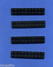 LEGO -- 3832 -- pietra angolare --- bauplatte --- NERO -- 2 x 10 -- 4 pezzi