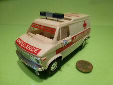 PLASTIC GMC CHEVY USA AMERICAN AMBULANCE - CREAM - VERY GOOD CONDITION