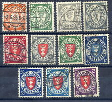 DANZIG 1924 Arms Definitive set of 9 plus shades of 15 and 50 Pf. used.