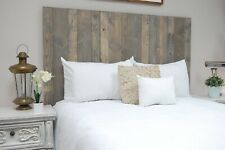 Coastal Gray Headboard Stain, Hanger Style, Handcrafted. Mounts on Wall.