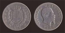 1 LIRA 1863 M MILANO - ARGENTO/SILVER - VITTORIO EMANUELE II