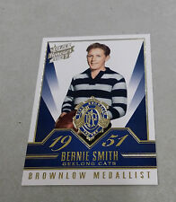 2015 AFL HONOURS BROWNLOW GALLERY CARD GEELONG CATS BERNIE SMITH BG68 1951
