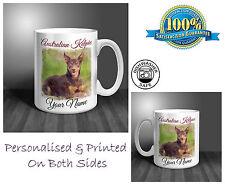 Australian Kelpie Personalised Ceramic Mug: Perfect Gift. (D192)