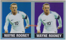 (2) 2018 LEAF ORIGINALS METAL #59: WAYNE ROONEY #/20 #/15 BLUE+PURPLE REFRACTOR