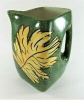 Clinchfield Artware Pottery Erwin Tennessee Hand Painted Square Pitcher Green