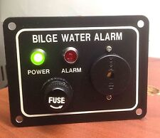 "MARINE BOAT BILGE ALARM PUMP SWITCH ALUMINUM PLATE 3.25"" by 2.5"" LED INDICATORS"