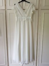 NEW Sophie Gray long wedding dress size 16 ivory satin cap sleeve £180 BNWT