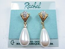 Swarovski Crystals and Pearls 1478 Rachel Gold Plated Pierced Earrings with