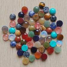Wholesale 50pcs/lot 12mm mixed natural gemstone round CAB CABOCHON stones beads