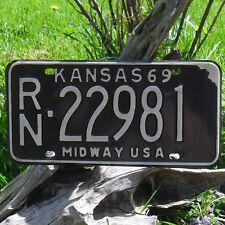 Véritable Plaque D'Immatriculation KANSAS (22981) USA License plate 1969