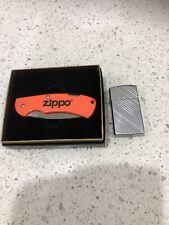 ZIPPO ,  Vintage Lighter 1990 & Knife