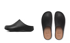*New* $180 FITFLOP Shuv Leather Clogs - Black, women's size US 6 / UK 4 / EU 37