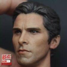 "Custom 1/6 Batman Begins Batman Bruce Wayne Head Sculpt For 12"" Figure"