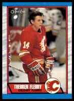 1989-90 O-PEE-CHEE THEO FLEURY RC CALGARY FLAMES #232
