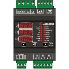 DATAKOM DKM-407 Electric network analyzer, DIN Rail, THD, RS-485, 1-input, 1-out