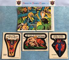 1975 Comic Heroes Checklist-Sticker Lot x 5   CAPTAIN MARVEL   KA-ZAR   Vintage