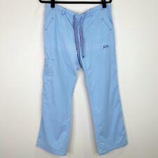 Iguana Med Medical Solid Light Blue Scrub Cargo Pants Bottoms Size Medium