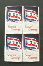 US-USO-1941-Four Greetings issues-MNH Cinderellas