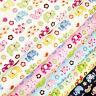 100% Cotton Fabric FQ Rainbow Floral Elephant Animal Print Children Cartoon VK30