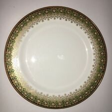 JPL Jean Pouyat Limoges France Salad Plate Ornate China Green Black