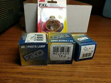 lot of 4 NOS FXL lamp projector bulbs 410 watts 82 volts