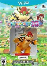 Mario Party 10 + Bowser Amiibo (Nintendo Wii U, 2016) Brand New 3 Parties 2 play
