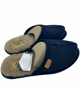 NEW MEN UGG SLIPPER SCUFF BLUE CORDUROY GENIUNE SHEEPSKIN ORIGINAL 1112451
