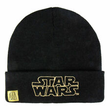 Boys Girls Kids Official Star Wars Black Winter Beanie Hat One Size 4 - 8 Years