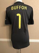 Italy Juventus Buffon Player MatchUnworn Prepared Shirt Authentic Jersey Uefa CL