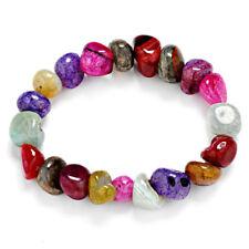 Natural Crack Beaded Bracelet Irregular Stone Handmade Bracelet Bangle Jewelry