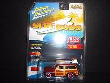 Johnny Lightning Mercury Woody 1950 Surf Rods 1/64 LTD 2400 PCS