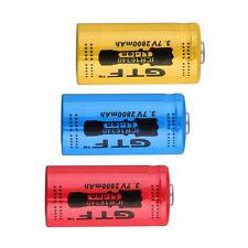 4pcs 2800mAh Rechargeable Li-ion Battery 16340 3.7V  for LED Torch Flashlight O9