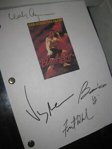 Bloodsport Signed Film Script X4 Jean-Claude Van Damme Bolo Yeung Whitaker REPNT