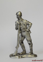 Tin soldier, figure. Soldier of the Imperial army, Japan, 1945. 54 mm
