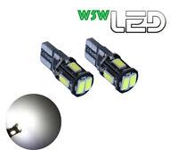 2 Ampoules W5W T10  LED  Blanc Plafonnier éclairage habitacle  anti erreur ODB