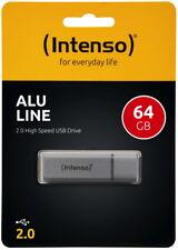 Intenso USB Stick 64GB Speicherstick Alu Line silber